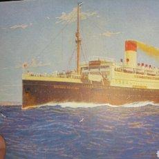 Postales: POSTAL DEL TRANSATLÁNTICO ANTONIO DELFINO COMPAÑÍA HAMBURGUESA SUDAMERICANA. Lote 130718698