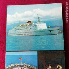 Postales: M.S. DANA SIRENA / DANA CORONA. DFDS SEAWAYS. Lote 131102976