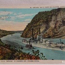 Postales: ANTIGUA POSTAL BARCO EL NEVADA - CANAL DE PANAMÁ . Lote 131866290