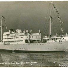Postales: M/S BRETAGNE DE FRED OLSEN LINE, OSLO, NORWAY, NORUEGA, 1939 CENSURA MILITAR BURGOS. Lote 131882606