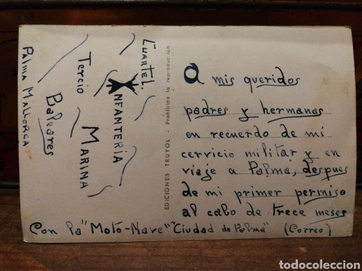 Postales: ANTIGUA POSTAL BARCO LA MOTONAVE, CIUDAD DE PALMA- FOTO TRUYOL, CIRCULADA.14X9CM. - Foto 3 - 132343995