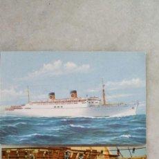 Postales: ANTIGUAS POSTALES - TORMENA ITALY - HOME LINES - SS HOMERIC. Lote 132385986
