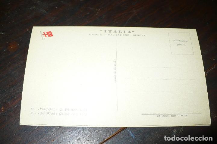 Postales: Buque motonave, saturnia, societá di navigazione Genova, n/c - Foto 2 - 132973242