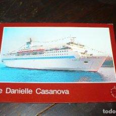 Postales: BARCO, BUQUE, DANIELLE CASANOVA, L'ARRIVÉE, BASTIA, POSTAL NO CIRCULADA. Lote 133273290