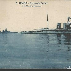 Postales: POSTAL ROSAS (GIRONA) - ACORAZADO CARDIFF - FOTO ROISIN. Lote 134046078