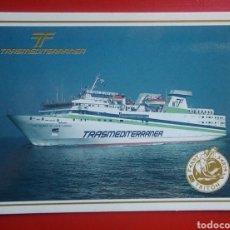 Postales: POSTAL BARCO TRANSMEDITERRANEA SERIE TRITÓN LAS PALMAS GRAN CANARIA. Lote 134058359