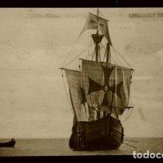 Postales: CARABELA SANTA MARIA - VISTA DE PROA - POSTAL CIRCULADA FECHADA EN 1935- BARCO BUQUE. Lote 135256978