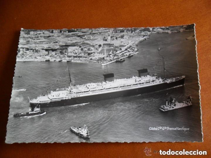 CLICHÉ COMPAGNIE GÉNÉRALE TRANSATLANTIQUE - FABRICACIÓN ANDRÉ LECONTE - TRANSATLANTICO LIBERTÉ (Postales - Postales Temáticas - Barcos)
