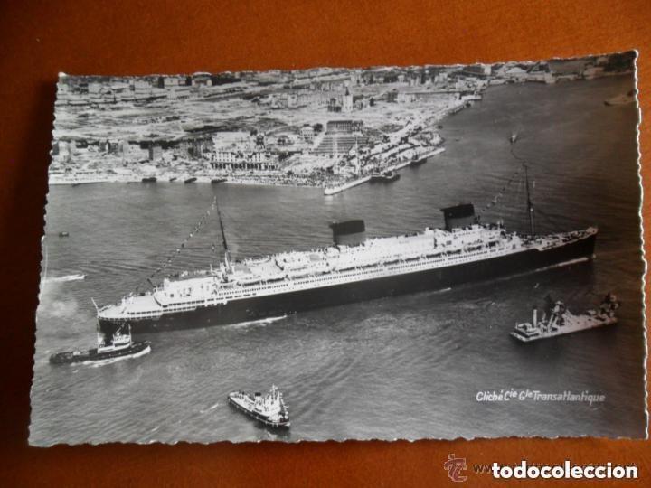 Postales: CLICHÉ COMPAGNIE GÉNÉRALE TRANSATLANTIQUE - FABRICACIÓN ANDRÉ LECONTE - TRANSATLANTICO LIBERTÉ - Foto 2 - 135264866