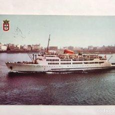 Postales: TRANSBORDADOR VIRGEN DE ÁFRICA. POSTAL. EDITA: FOTOCOLOR CASA RUBIO (A.1966). Lote 135910306