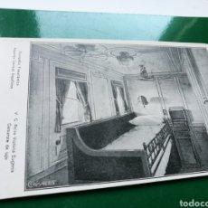 Postales: ANTIGUA POSTAL COMPAÑÍA VAPORES CORREOS ESPAÑOLES. CAMAROTE BARCO VICTORIA EUGENIA. Lote 136134300