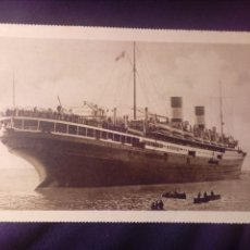 Postales: POSTAL ANTIGUA BARCO M/N AUGUSTUS NAVIGAZIONE GENERALES ITALIANA E.I. BARCELONA 1929. Lote 137255566