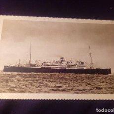 Postales: POSTAL ANTIGUA BARCO ORAZIO Y VIRGILIO NAVIGAZIONE GENERALE ITALIANA E.I.BARCELONA 1929. Lote 137256290