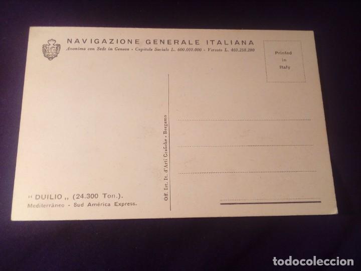 Postales: Postal antigua barco duilio navigazione generale italiana - Foto 2 - 137256498