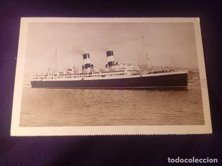 POSTAL ANTIGUA BARCO DUILIO Y GIULIO CESARE NAVIGAZIONE GENERALE ITALIANA E.I.BARCELONA 1929 (Postales - Postales Temáticas - Barcos)