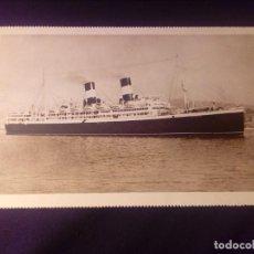 Postales: POSTAL ANTIGUA BARCO DUILIO Y GIULIO CESARE NAVIGAZIONE GENERALE ITALIANA E.I.BARCELONA 1929. Lote 137256762