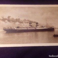 Postales: POSTAL ANTIGUA BARCO ROMA NAVIGAZIONE GENERALE ITALIANA E.I.BARCELONA 1929. Lote 137257470