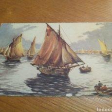 Postales: POSTAL BARCOS VELEROS, WOLFAN. ED. COLON AÑOS 50. Lote 137933968