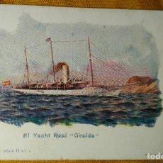 Postales: POSTAL BARCO. FOMENTO NAVAL SERIE II Nº 1. - EL YACHT REAL GIRALDA - FERRER CORUÑA. Lote 142041846