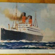 Postales: POSTAL BARCO - CUNARD R.M.S. CARONIA-. Lote 142043986