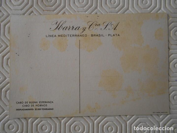 Postales: YBARRA Y CIA. S.A. LINEA MEDITERRANEO - BRASIL - PLATA. CABO DE BUENA ESPERANZA - CABO DE HORNOS. DE - Foto 2 - 142063226