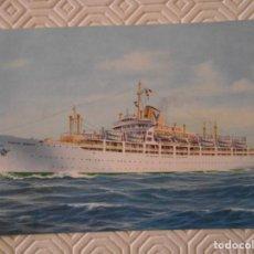 Postales: SITMAR. SOCIETA ITALIANA TRASPORTI MARITIMI. S.P.A. GENOVA. CASTEL BIANCO. POSTAL.. Lote 142068330