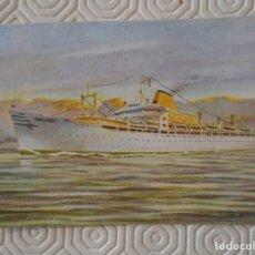 Postales: COMPAÑIA TRASATLANTICA ESPAÑOLA. M/N MONTSERRAT. TARJETA POSTAL. COMPAÑIA TRASATLANTICA. AGENCIA DE . Lote 142068862