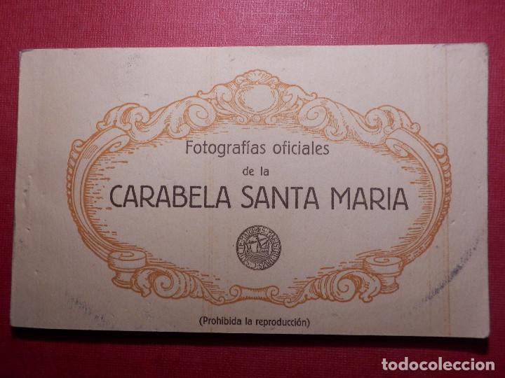TARJETAS - ALBUM DE 12 POSTALES CON FOTOS OFICIALES DE LA CARABELA SANTA MARÍA - KALLMEYER Y GAUTIER (Postales - Postales Temáticas - Barcos)