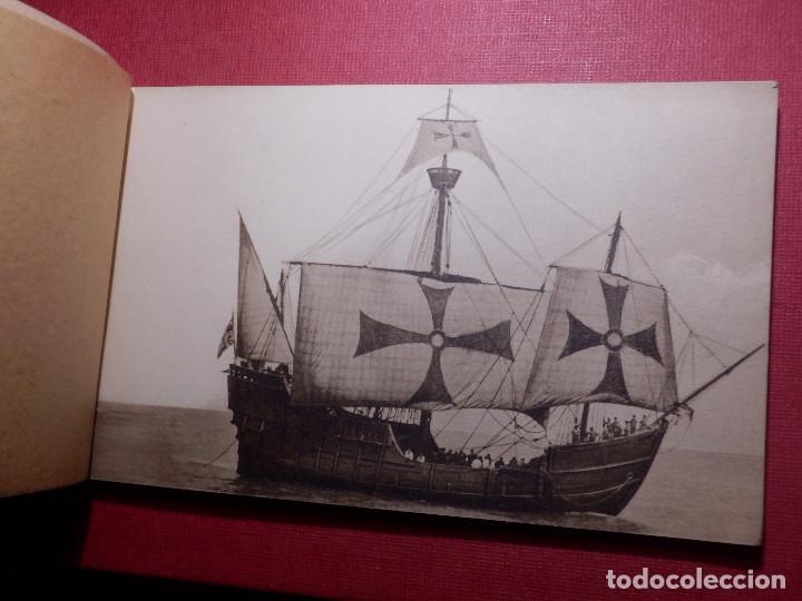 Postales: Tarjetas - Album de 12 postales con fotos oficiales de la Carabela Santa María - Kallmeyer y Gautier - Foto 3 - 142366446