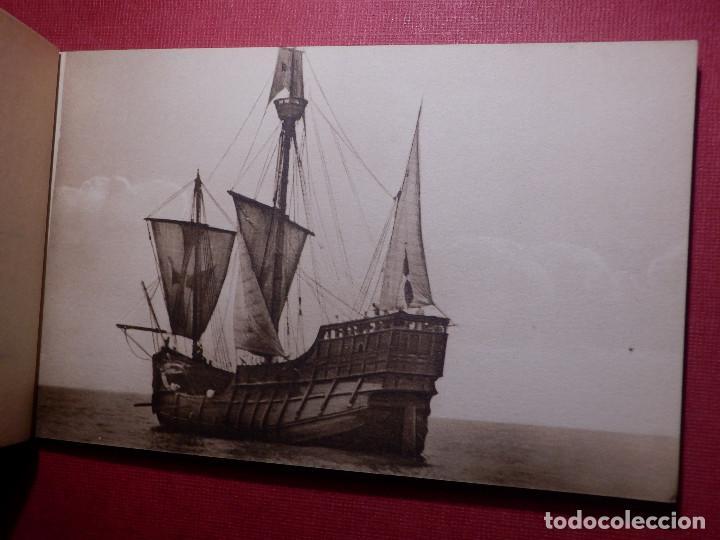 Postales: Tarjetas - Album de 12 postales con fotos oficiales de la Carabela Santa María - Kallmeyer y Gautier - Foto 5 - 142366446
