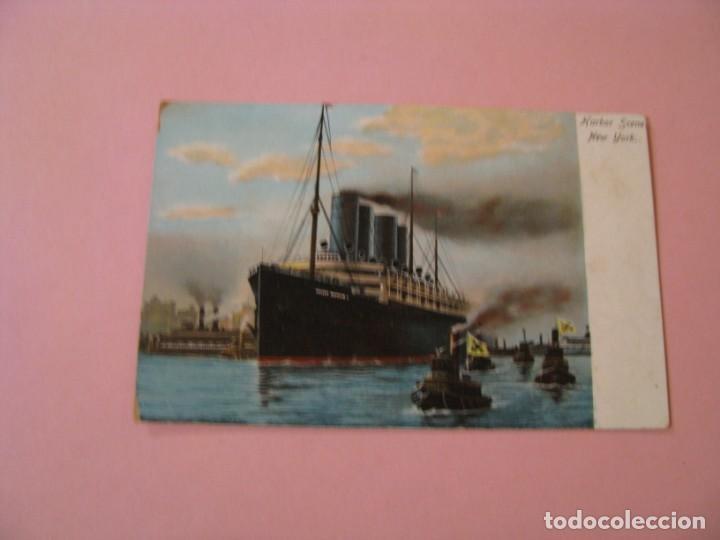 HARBOR SCENE. NEW YORK. KAISER WILHELM II. ED. ILLUSTRATED POSTAL CARD CO. NEW YORK GERMANY (Postales - Postales Temáticas - Barcos)