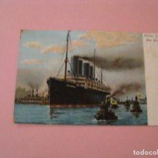 Postales: HARBOR SCENE. NEW YORK. KAISER WILHELM II. ED. ILLUSTRATED POSTAL CARD CO. NEW YORK GERMANY. Lote 142783522