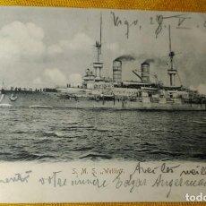 Postales: POSTAL - S.M.S WETTIN - VIGO 1903. Lote 142823902