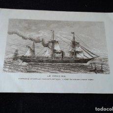 Postales: LE PEREIRE COMPAGNIE GENERALE TRASATLANTIQUE LIGNE DU HAVRE A NEW YORK CIRCULADA. Lote 145108882