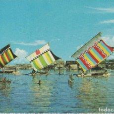 Postales: POSTALES POSTAL FILIPINAS AÑOS 60 BARCOS TIPICOS MATA SELLOS . Lote 145122990