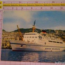 Postales: POSTAL DE BARCOS NAVIERAS. DFDS SEAWAYS MS DANA CORONA. BUQUE ESCALAS GENOVA ALICANTE MÁLAGA. 1611. Lote 191217878
