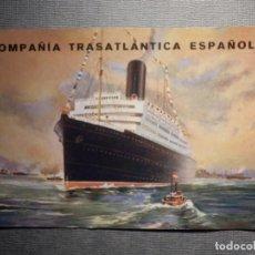 Postales: COMPAÑÍA TRASATLANTICA ESPAÑOLA - I.G. EL SIGLO XX - SIN CIRCULAR . Lote 150504346