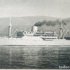 Postales: 1933 LLOYD TRIESTINO MOTONAVE CALITEA. FLOTTE RIUNITE MARITTIMA ITALIANA E SITMAR. CIRCULADA 15X10,5. Lote 134545846