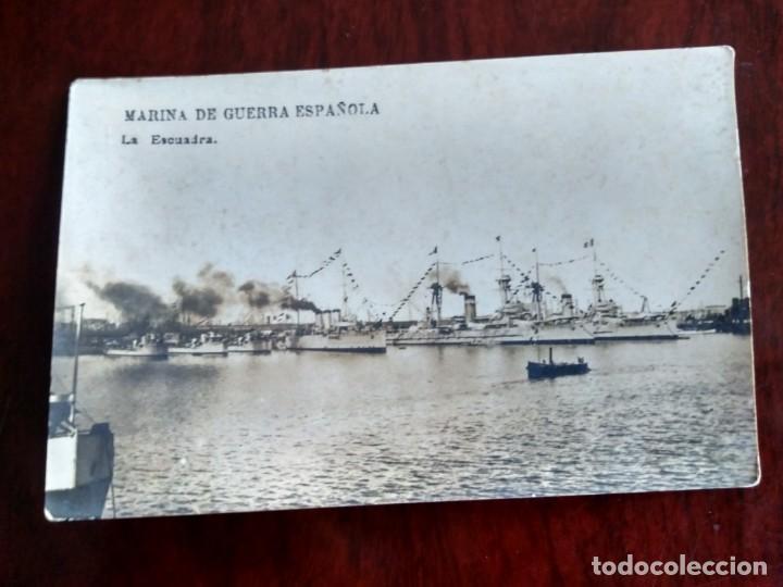 POSTAL FOTOGRAFICA MARINA DE GUERRA ESPAÑOLA LA ESCUADRA (Postales - Postales Temáticas - Barcos)