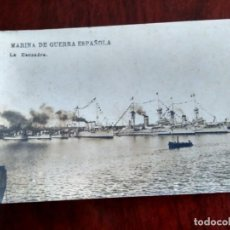 Postales: POSTAL FOTOGRAFICA MARINA DE GUERRA ESPAÑOLA LA ESCUADRA. Lote 152648174