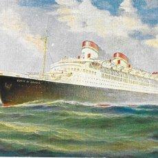 Cartes Postales: P- 9088. POSTAL ILUSTRACION ITALIAN LINE, CONTE DI SAVOIA.. Lote 152883158