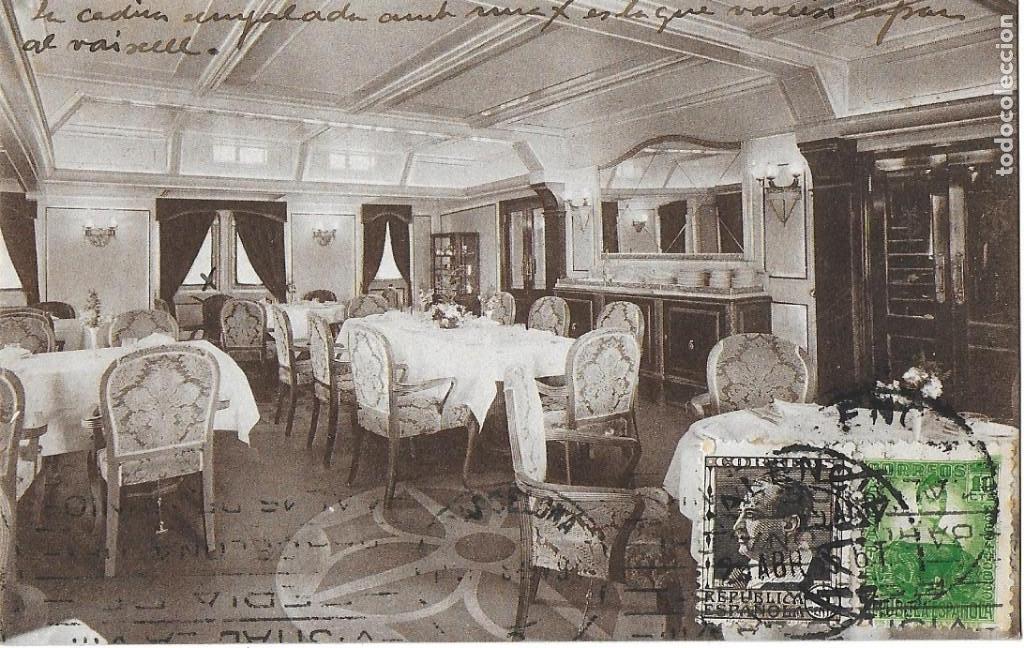 Postales: P- 9089. LOTE TRES POSTALES TRANSMEDITERRANEA, CIUDAD DE VALENCIA. AÑO 1935. - Foto 2 - 152884070