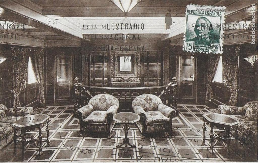 Postales: P- 9089. LOTE TRES POSTALES TRANSMEDITERRANEA, CIUDAD DE VALENCIA. AÑO 1935. - Foto 3 - 152884070