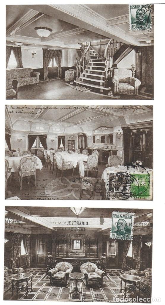 Postales: P- 9089. LOTE TRES POSTALES TRANSMEDITERRANEA, CIUDAD DE VALENCIA. AÑO 1935. - Foto 6 - 152884070
