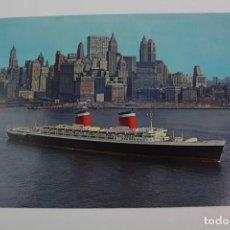 Postales: PR- 793. POSTAL EN COLOR NEW YORK HARBOR. SUPERLINER UNITED STATES.. Lote 153829406
