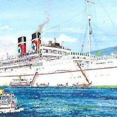 Postales: PR- 827. POSTAL ILUSTRACION EMBARCACION QUEEN OF THE SEAS. . Lote 153960570