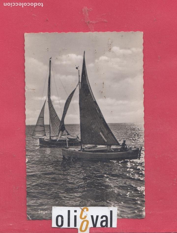 BARCO SEGELREGATTA AUF HOHER SEE NOVIEMBRE 60 EMDEN PE2275 1960 (Postales - Postales Temáticas - Barcos)