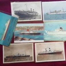 Postales: LOTE DE 7 POSTALES DE BARCOS. Lote 154494570