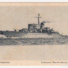 Postales: POSTAL ARMADA ESPAÑOLA CAÑONERO - MARTÍN ALONSO PINZÓN - (VER MÁS DATOS EN REVERSO, IMPORTANTE).. Lote 155280650