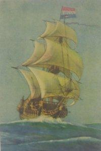 Barcos. Postal antigua